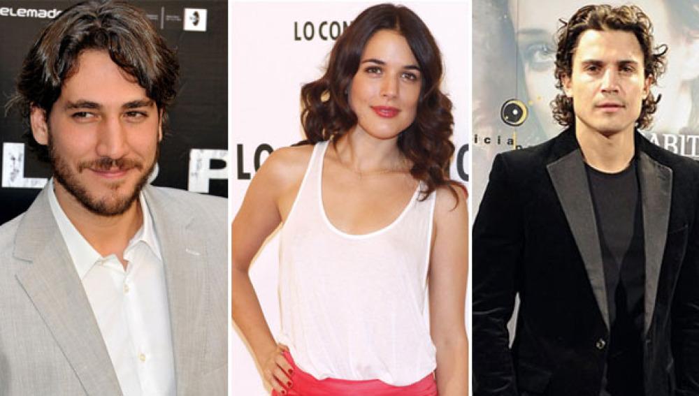 Alex González, Adriana Ugarte y Alberto Ammann