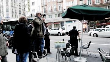 Álex de la Iglesia en el rodaje de 'El Bar'