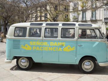 Así llegó la furgoneta de Señor Dame Paciencia a Málaga